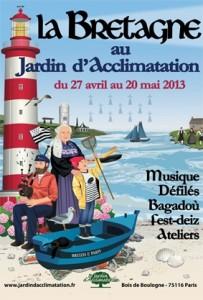 Affiche Bretagne au Jardin d'Acclimatation